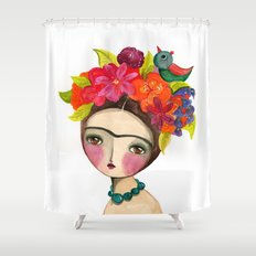 Frida And The Bird In Her Hair Shower Curtain