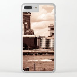 Pittsburgh Sepia Clear iPhone Case