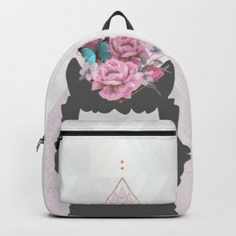 The Holy Llama Floral Geometric (white) Backpack