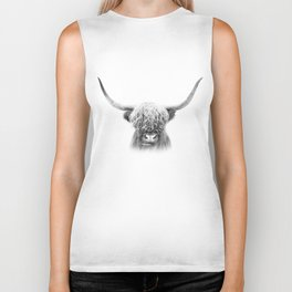 Scottish Highland Cow Biker Tank