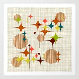 Starbursts and Globes 4 Art Print