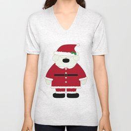 Doggy Santa Unisex V-Neck