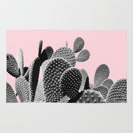 Bunny Ears Cactus on Pastel Pink #cactuslove #tropicalart Rug