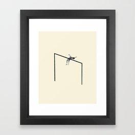 Hurdle (Square) Framed Art Print