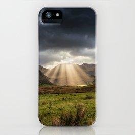 Nant Ffrancon Pass Snowdonia iPhone Case