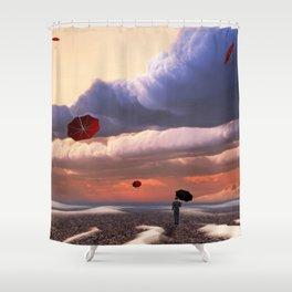 Flying Umbrellas Shower Curtain