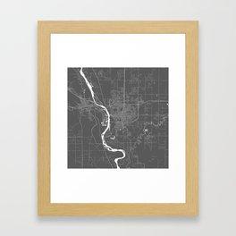 Bismarck USA Modern Map Art Print Framed Art Print
