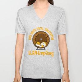 It's A Pause T-shirt Saying Hab Heute Total Schlechten Elan-Empfans T-shirt Design Guinea Pig Wheel Unisex V-Neck