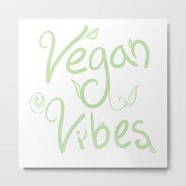 Vegan Vibes Metal Print