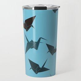 Blue origami cranes Travel Mug