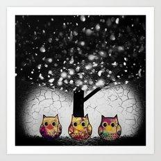 owl-52 Art Print