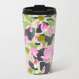 pond of pink lotuses Travel Mug