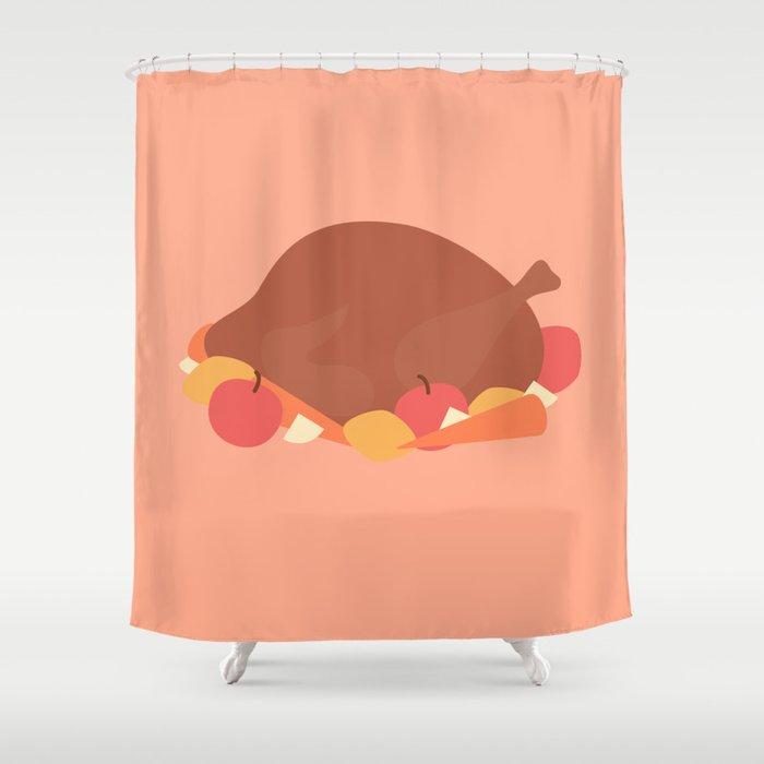 44 Turkey Shower Curtain By Mnmlthing
