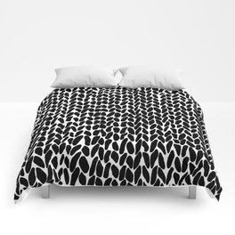 Hand Knitted Black S Comforters