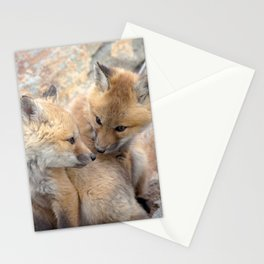 Watercolor Fox, Red Fox 51, Union Reservoir, Boulder Stationery Cards