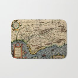 Map Of Andalusia 1606 Bath Mat