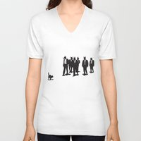 reservoir dogs V-neck T-shirts featuring Reservoir Dogs by Clayton Dixon