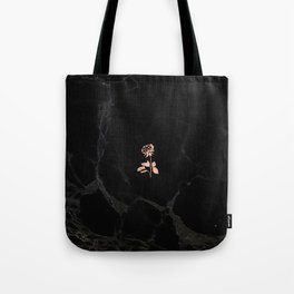 Forever Petal (Black Rose) Tote Bag