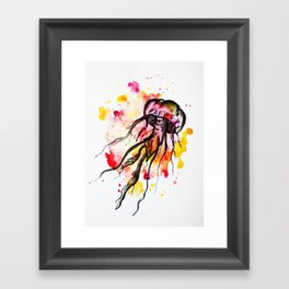 Watercolor Jellyfish Framed Art Print
