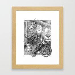 Wolf Dragon Framed Art Print