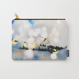 Magic in The Snow #society6 Decor #home #buyart #landscape #lifestyle #fashion Carry-All Pouch