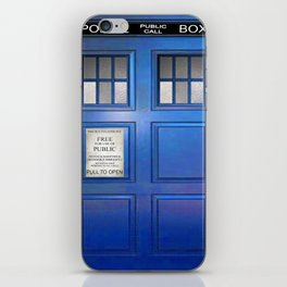 doctor who public box  iPhone Skin