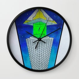 alien abduction  ZB Wall Clock