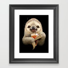SLOTH & SOFT DRINK Framed Art Print