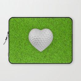 Golf ball heart / 3D render of heart shaped golf ball Laptop Sleeve