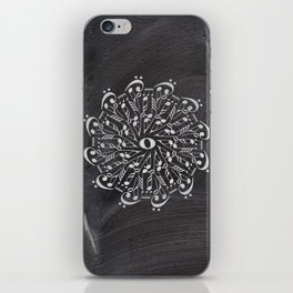 Musical mandala on chalkboard iPhone Skin