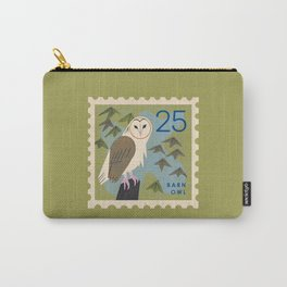 Barn Owl Postage Stamp Carry-All Pouch