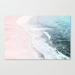 Vintage Faded ocean waves Canvas Print
