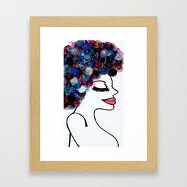 Hair rollers Framed Art Print