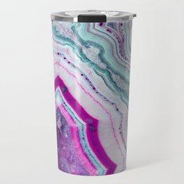 Cotton Candy Agate Slice Travel Mug