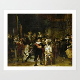 The Night Watch by Rembrandt (1642) Art Print