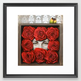 Lover bird Framed Art Print
