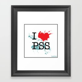 I Love Paesello Framed Art Print