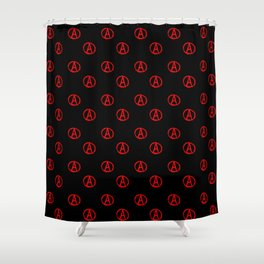 Symbol of anarchy 3 Shower Curtain
