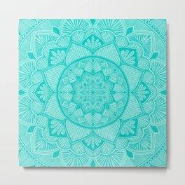 Turquoise Mandala 2 Metal Print