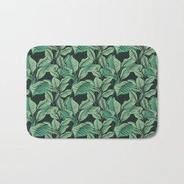 Exotic Tropical Banana Palm Leaf Print Bath Mat