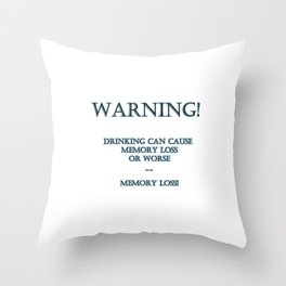 "Funny ""Memory Loss"" Joke Throw Pillow"