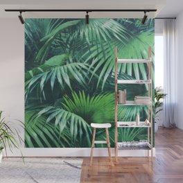Tropical Botanic Jungle Garden Palm Leaf Green Wall Mural