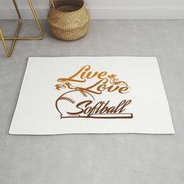 LIVE - LOVE - SOFTBALL Rug