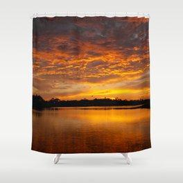 Fire Clouds Shower Curtain