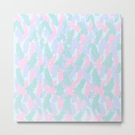Sea Anemone Pastel Pattern Metal Print