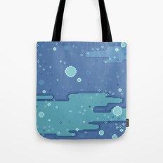 Blue Space Bubbles (8bit) Tote Bag