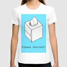 Tissue Box Baby Blue Background T-shirt