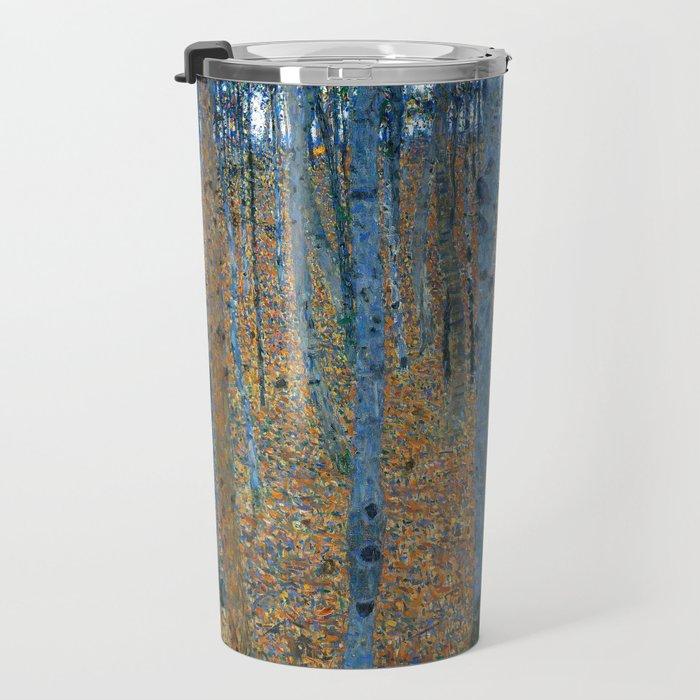 Gustav Klimt - Beech Grove I - Forest Painting Travel Mug