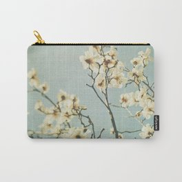 Magnolia blossoms. Mint Carry-All Pouch