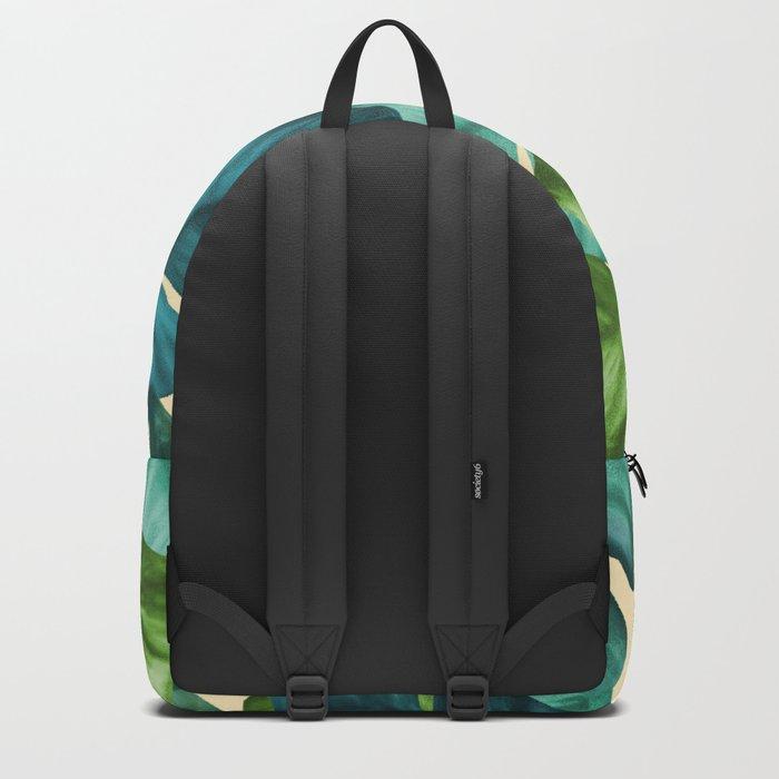 Tropical Banana Leaves Original Pattern Backpack